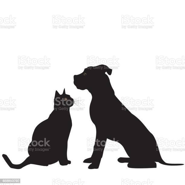 Silhouette of dog and cat vector id658853292?b=1&k=6&m=658853292&s=612x612&h=8dl9i4f6ss7puvna lblbzfufwlwlgh545bnjegvg7o=