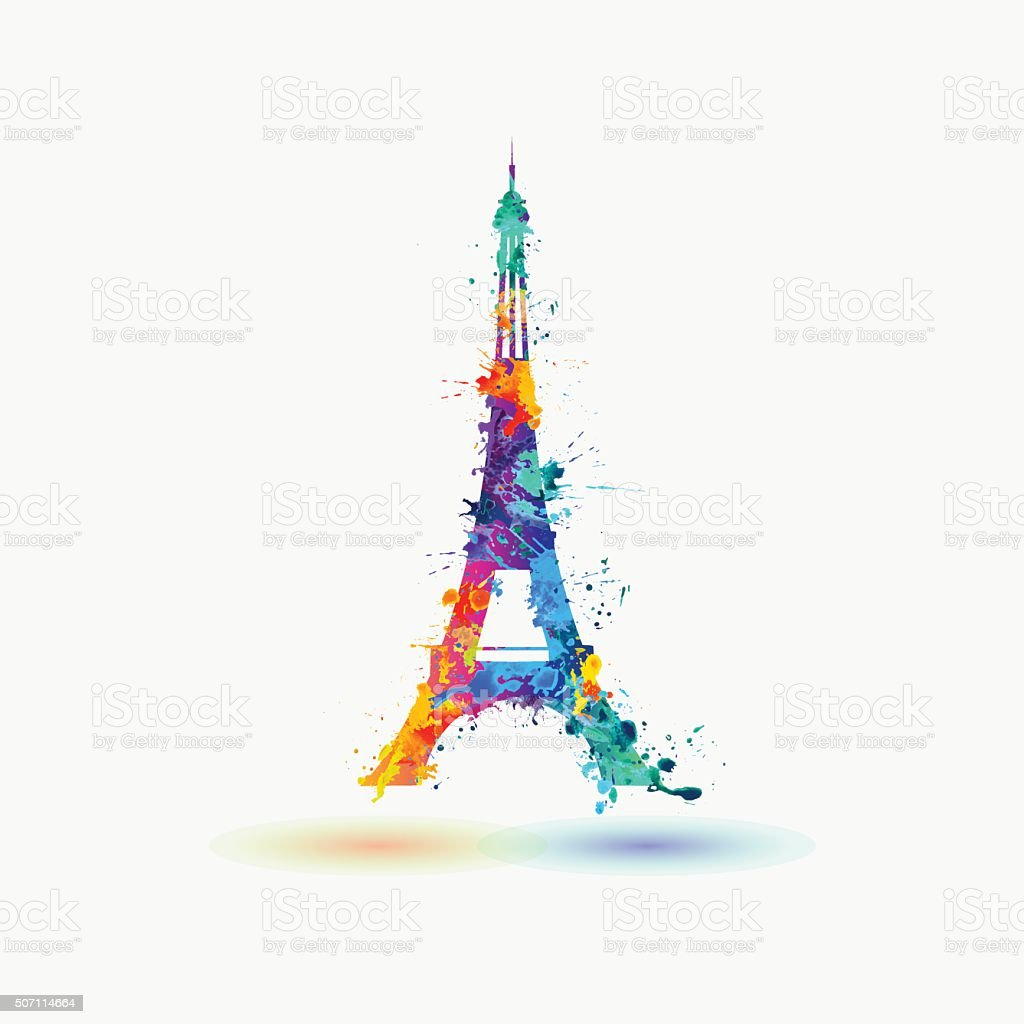 Silhouette Of Eiffel Tower Stock Vector Art & More Images of ...