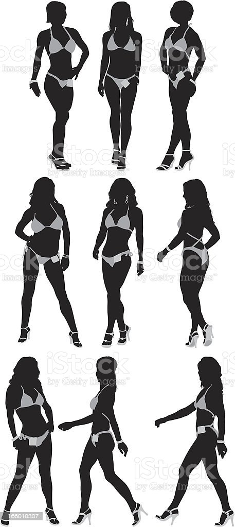 Silhouette of female body builders royalty-free silhouette of female body builders stock vector art & more images of adult