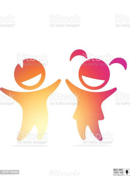 Silhouette of happy children boy and girl with gradient inside for vector id675715444?b=1&k=6&m=675715444&s=612x612&h=ixjs9os39ffuo17yub66f hhtahyaurkavubx9yust8=