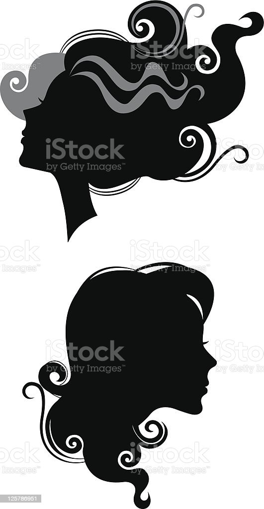 silhouette of heads profile females royalty-free silhouette of heads profile females stock vector art & more images of abstract