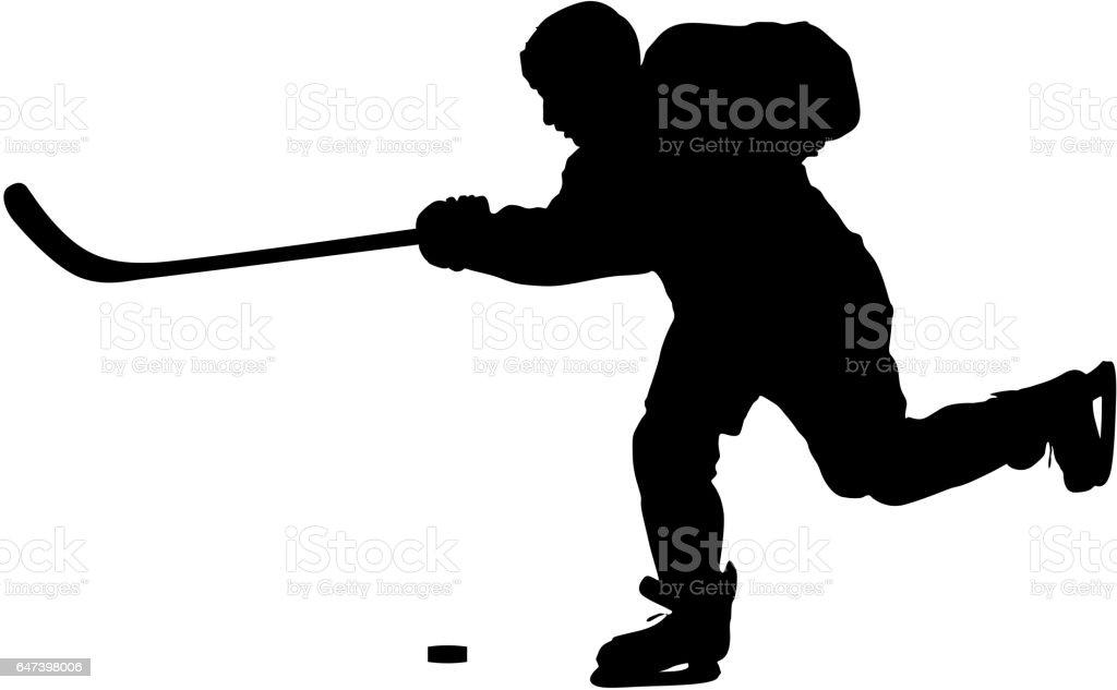 royalty free defenseman ice hockey clip art vector images rh istockphoto com hockey player clipart free hockey player clip art free