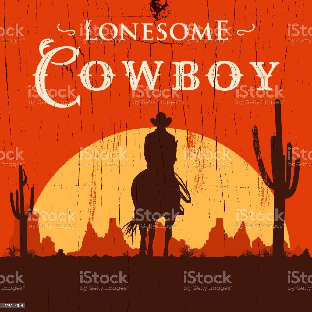 Silhouette de lonesome cowboy sur cheval au coucher du soleil, Illustration vectorielle silhouette de lonesome cowboy sur cheval au coucher du soleil illustration vectorielle vecteurs libres de droits et plus d'images vectorielles de adulte libre de droits