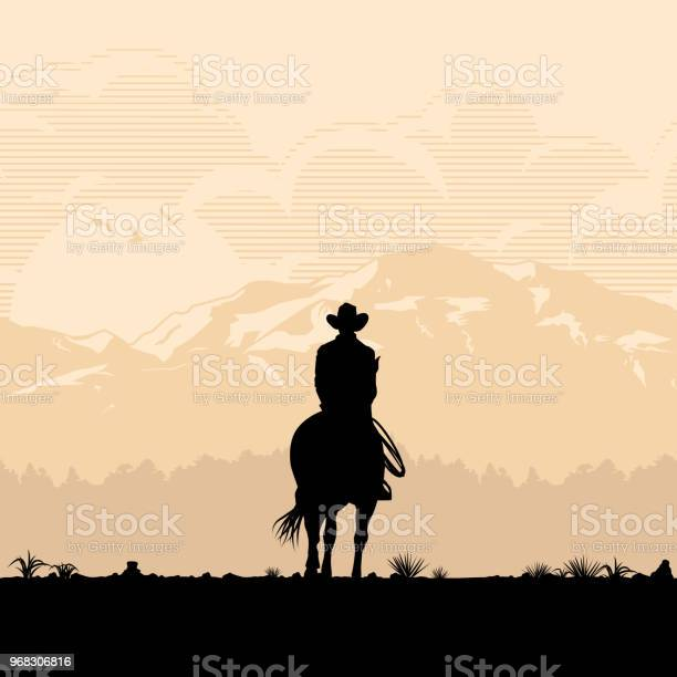 Silhouette of lonesome cowboy riding horse at sunset vector vector id968306816?b=1&k=6&m=968306816&s=612x612&h=xg7ncna3dwlacylzl2j5gylma8sdnmg0xth9ctbrht4=