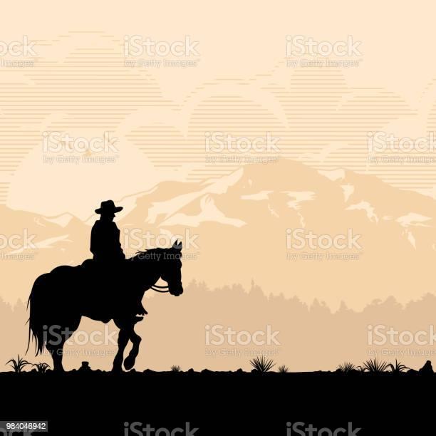 Silhouette of lonesome cowboy riding horse at sunset vector vector id984046942?b=1&k=6&m=984046942&s=612x612&h=js xeddazsvo9jlznl0b hakelpd 1d1wbpdwhjsynm=