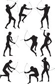 Silhouette of man aiming with a bow and arrowhttp://www.twodozendesign.info/i/1.png