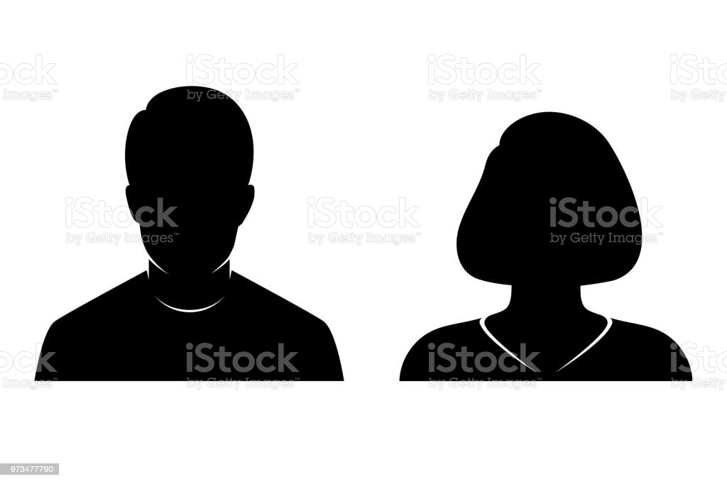 silhouette of man and woman stock vector art amp more images