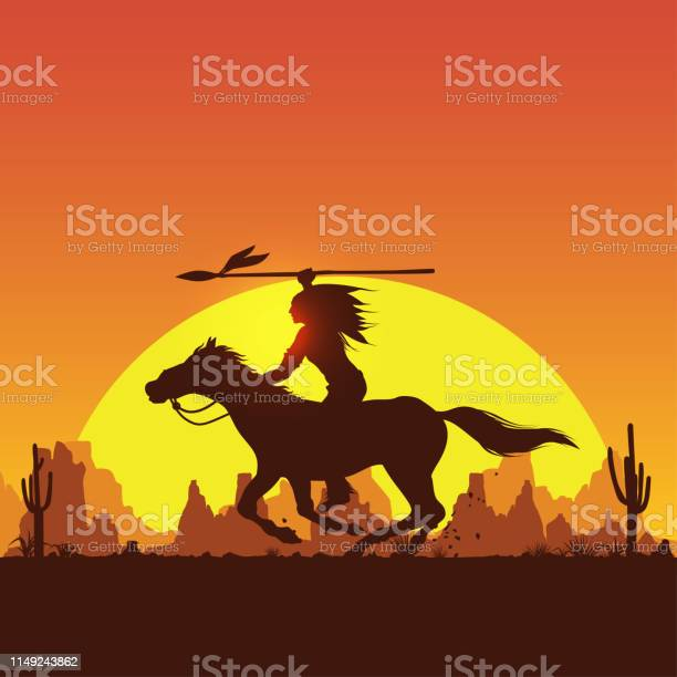 Silhouette of native american indian riding horseback with a spear vector id1149243862?b=1&k=6&m=1149243862&s=612x612&h=j5czb tg4f8tuggvkoew qfytxmgui1psrkua8uuzha=