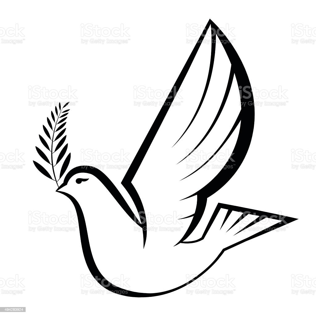 Silhouette Of Peace Dove Stock Illustration - Download Image