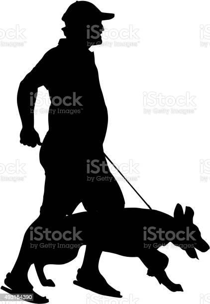 Silhouette of people and dog vector illustration vector id493154390?b=1&k=6&m=493154390&s=612x612&h=phpp6naa9l3gi8v5uej8 thn7kzl9oucjd0s5xv0oqm=
