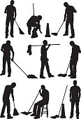 Silhouette of people cleaning the floorhttp://www.twodozendesign.info/i/1.png
