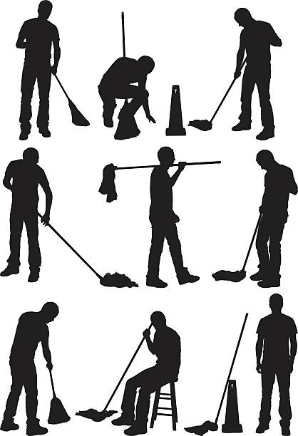 Royalty Free Sweeping Floor Clip Art Vector Images