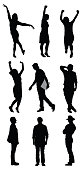 Silhouette of people in different poseshttp://www.twodozendesign.info/i/1.png