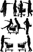Silhouette of people shopping in a supermarkethttp://www.twodozendesign.info/i/1.png