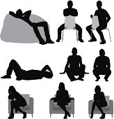 Silhouette of people sitting in different poseshttp://www.twodozendesign.info/i/1.png
