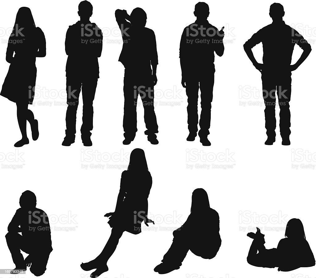 Silhouette von Menschen – Vektorgrafik