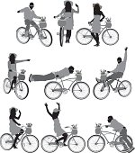 Silhouette of people with bicycleshttp://www.twodozendesign.info/i/1.png