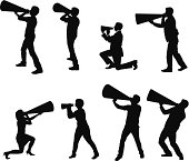 Silhouette of people with bullhornshttp://www.twodozendesign.info/i/1.png
