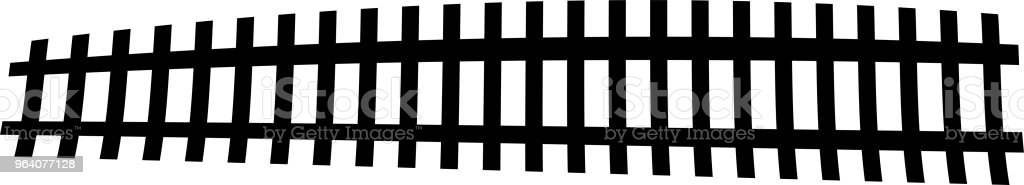 Silhouette of railroad - Royalty-free Black And White stock vector