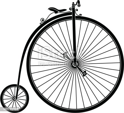 Abstract illustration of retro bicycle. Vector illustration. The archive consist of  EPS, PDF and hi-resolution JPG format.