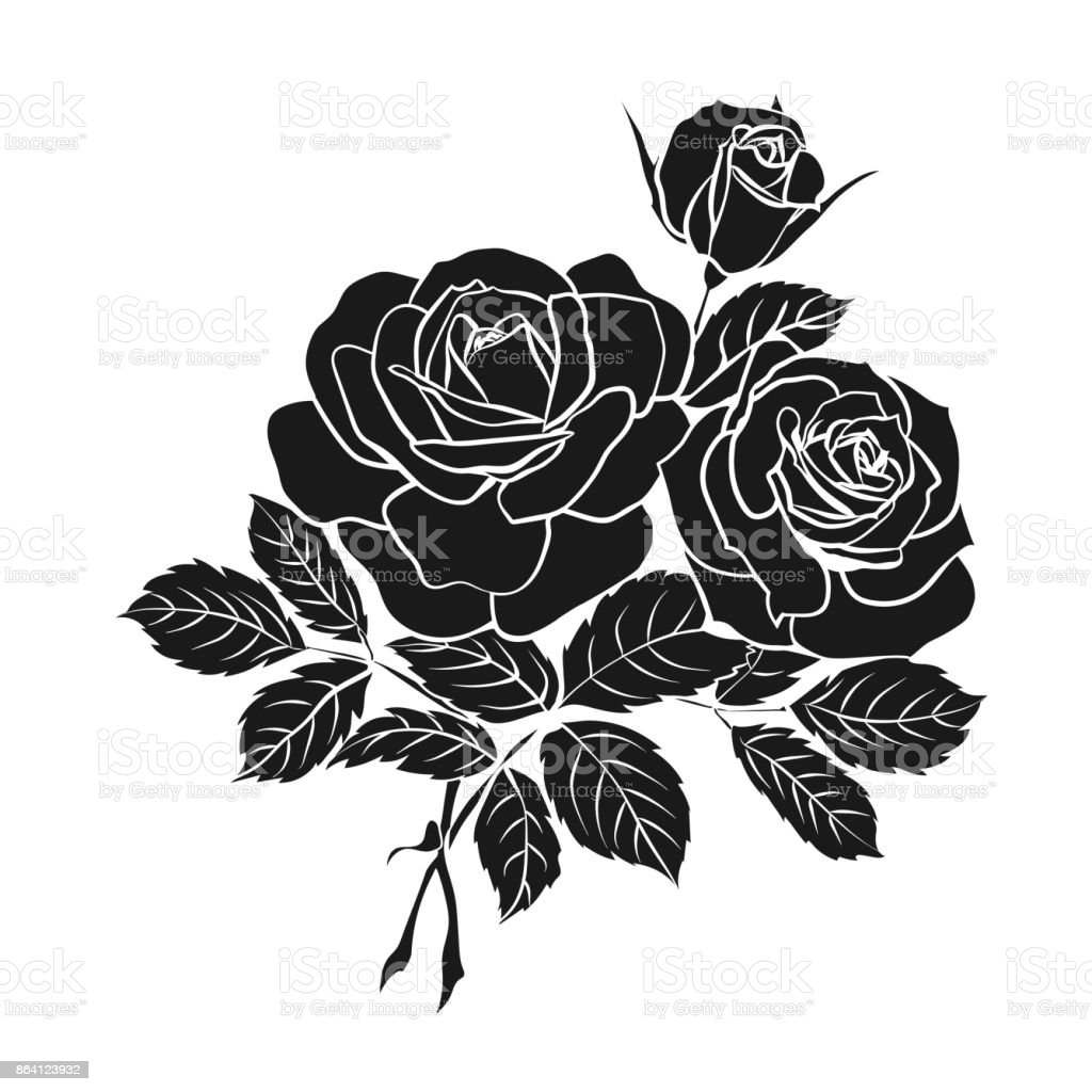 silhouette of rose royalty-free silhouette of rose stock vector art & more images of abstract