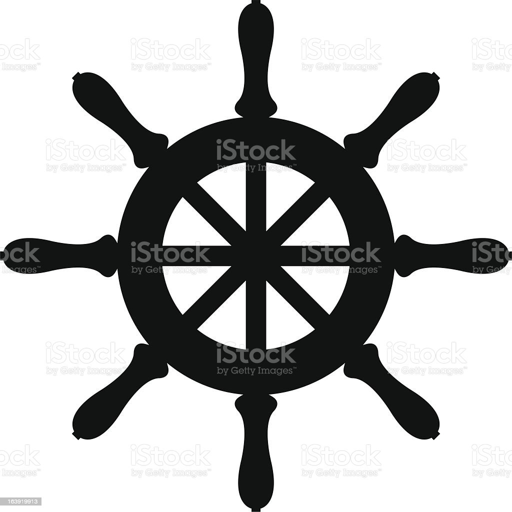 Silhouette of sailboat steering wheel royalty-free silhouette of sailboat steering wheel stock vector art & more images of control