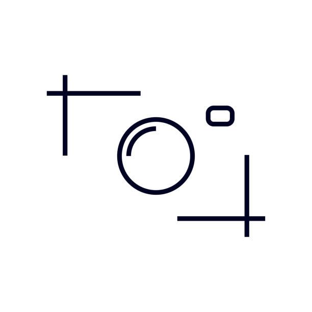 카메라의 실루엣입니다. 웹사이트, 프로그램, 응용 프로그램, 로고, 라벨 및 기타 요구에 대 한 카메라 아이콘. 편집 가능한 스트로크 - 사진 테마 stock illustrations