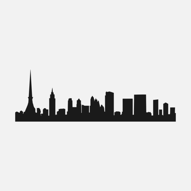 silhouette of the city Tokyo, the famous city of silhouette of the city Tokyo, the famous city of, vector design template tokyo stock illustrations