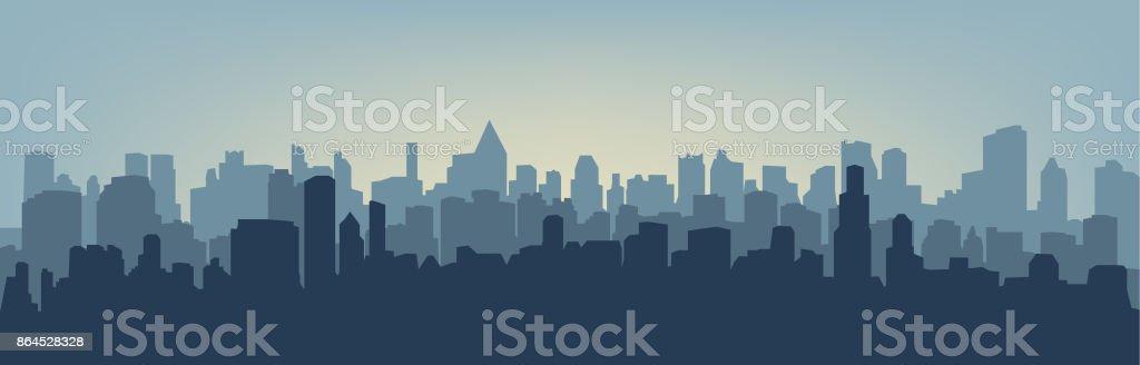 Silhouette of the city - Royalty-free Acender arte vetorial