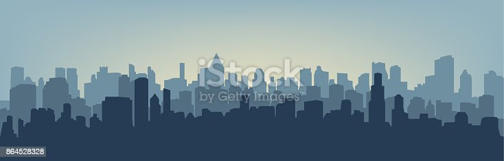 istock Silhouette of the city 864528328