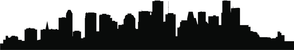 A silhouette of the skyline in Houston, Texas