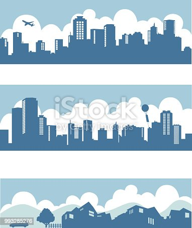 downtown, downtown, city, illustration
