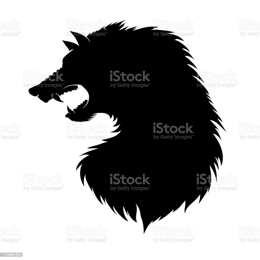 白い背景に孤立した狼男の頭のシルエット古代神話の Fairtale 文字架空の動物 オオカミのベクターアート素材や画像を多数ご用意 Istock
