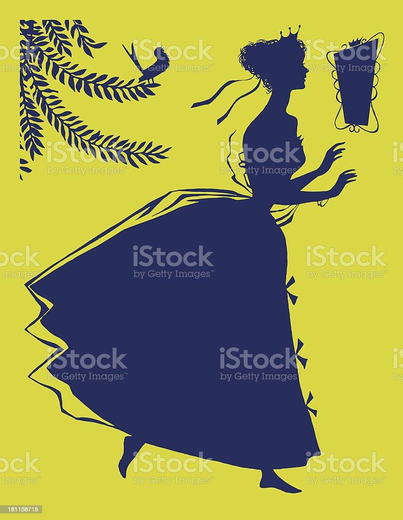 Silhouette of Woman – Vektorgrafik