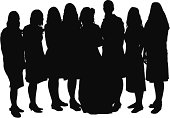 Silhouette of women with a bridehttp://www.twodozendesign.info/i/1.png