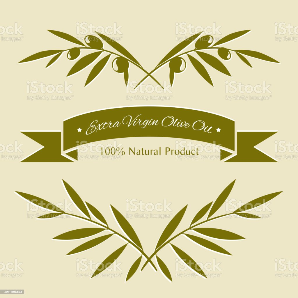 Silhouette olive branches royalty-free stock vector art