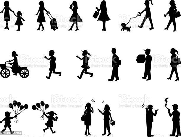 Silhouette people life style concept in various location vector id1049165780?b=1&k=6&m=1049165780&s=612x612&h=3fvtp0mvenete2a tkgtbtfux58fx1iym1cj03f4try=