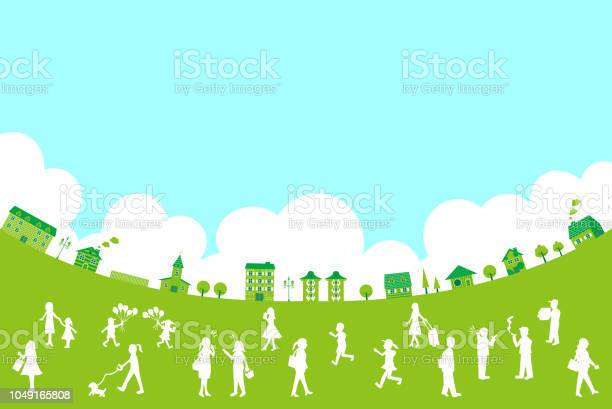 Silhouette people life style concept in various location vector id1049165808?b=1&k=6&m=1049165808&s=612x612&h=99i2vld eozeerslaxgg0yx3zkdwwfic1 frplq hbo=