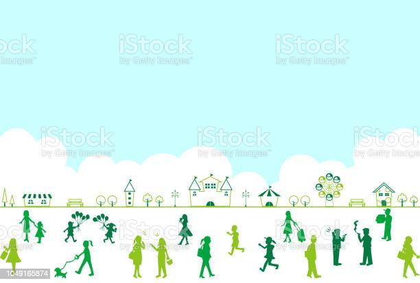 Silhouette people life style concept in various location vector id1049165874?b=1&k=6&m=1049165874&s=612x612&h=sd0ej3osl1qpxy6t 3jhg1l5ipxgvabicnilsh9rlkg=