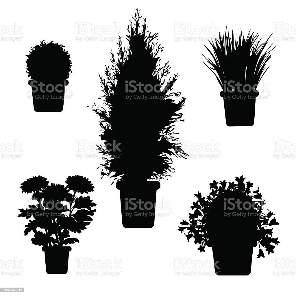 sagoma di piante - illustrazione arte vettoriale