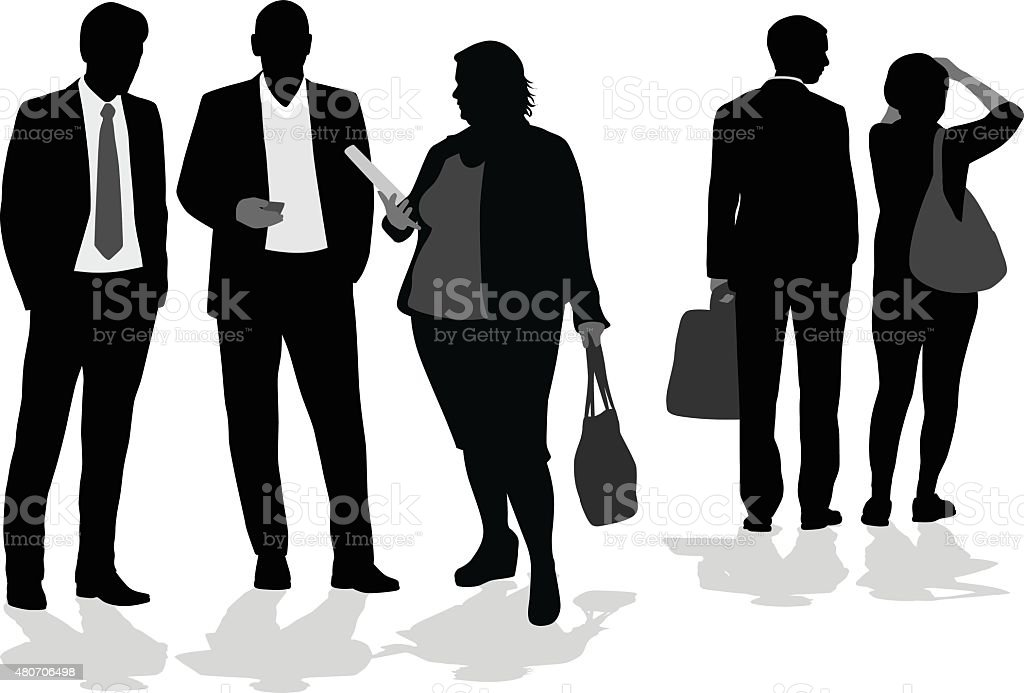 Silhouette Professionals vector art illustration