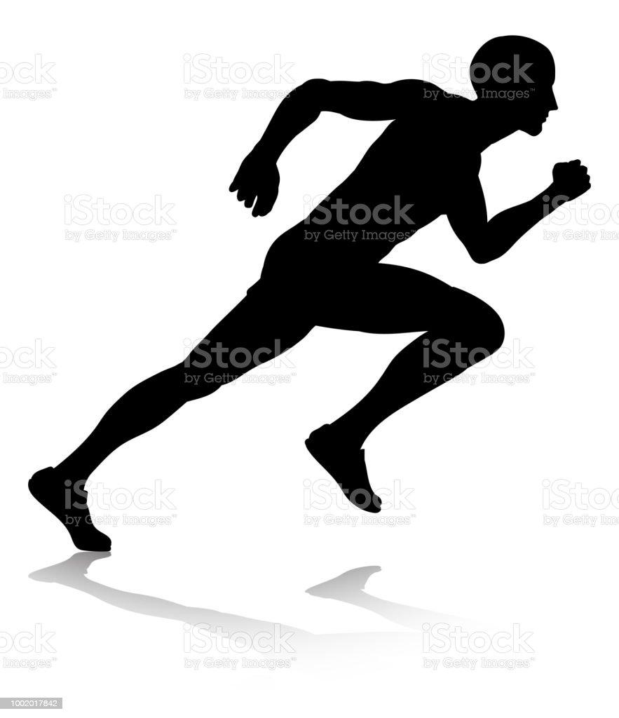 ilustração de corredor de silhueta correndo ou executando e mais