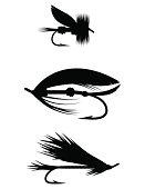 Silhouette Set - Fishing Flies