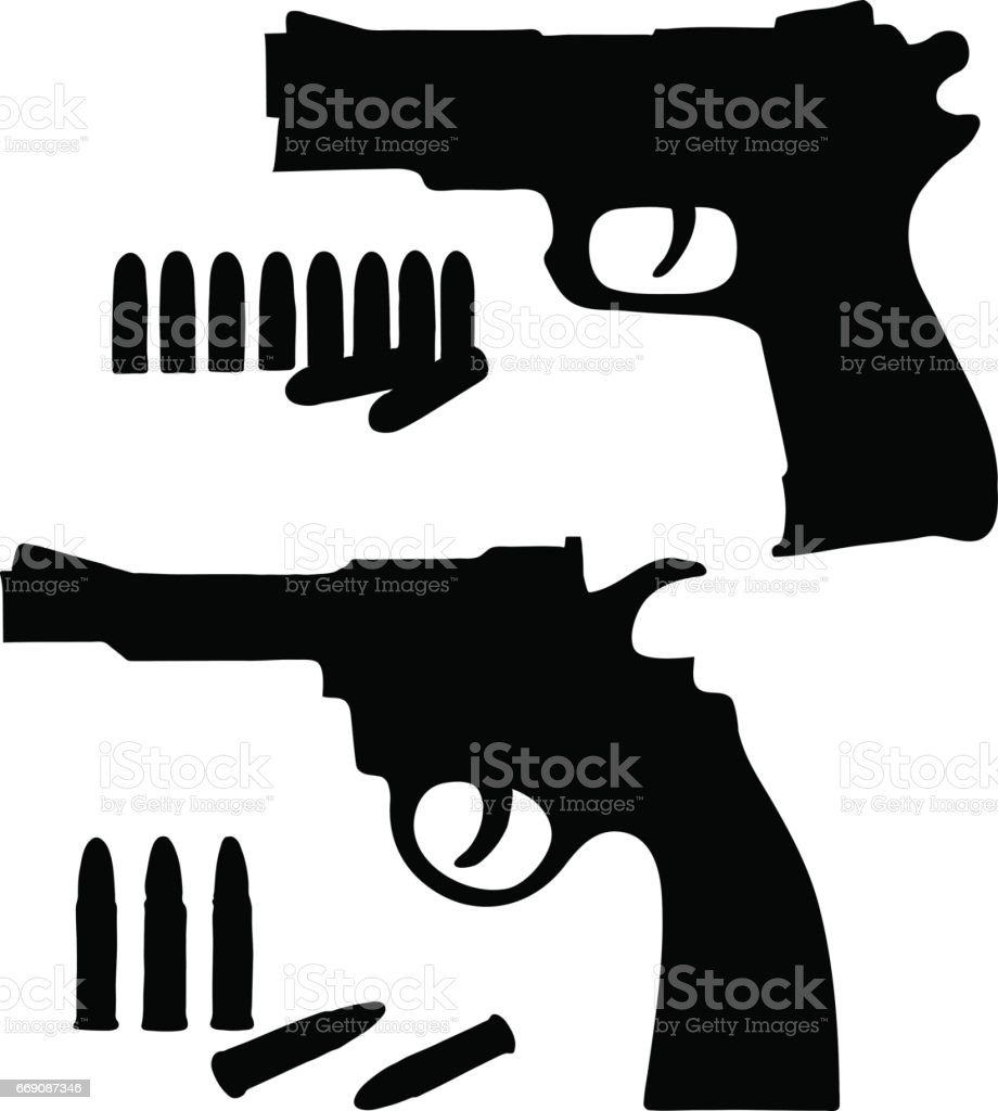 silhouette sketch vector revolver and a pistol stock illustration download image now istock silhouette sketch vector revolver and a pistol stock illustration download image now istock