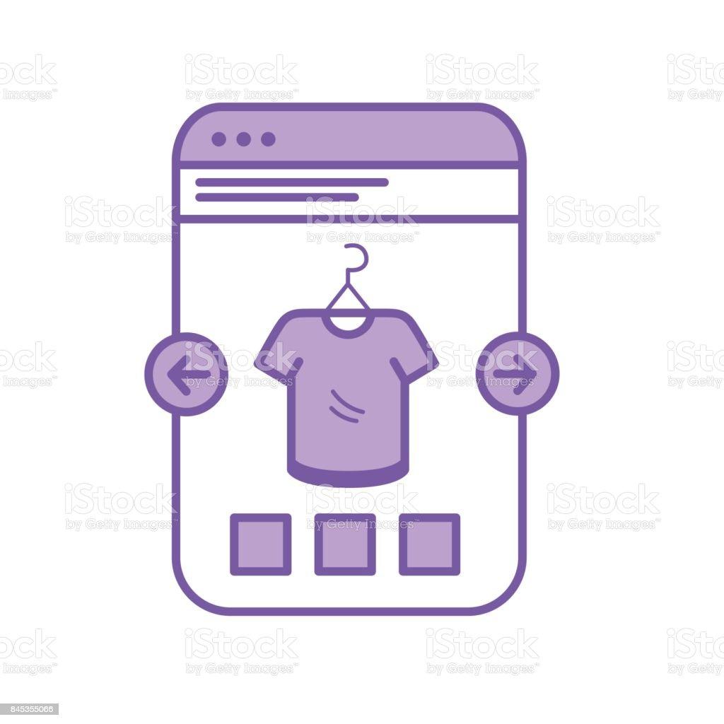 bd1250d3986 sitio web de smartphone silueta compras la ropa en línea ilustración de sitio  web de smartphone