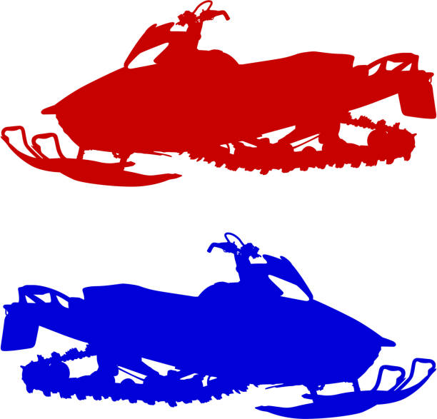 Best Snowmobile Illustrations, Royalty-Free Vector ...