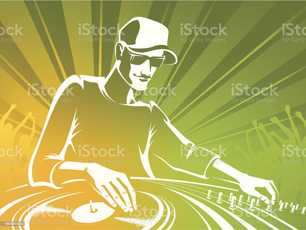 DJ silhouette royalty-free stock vector art