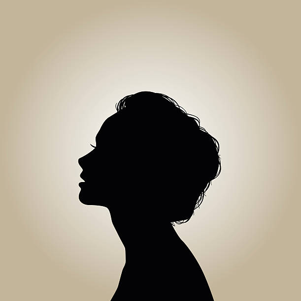silhouette - female faces stock illustrations, clip art, cartoons, & icons