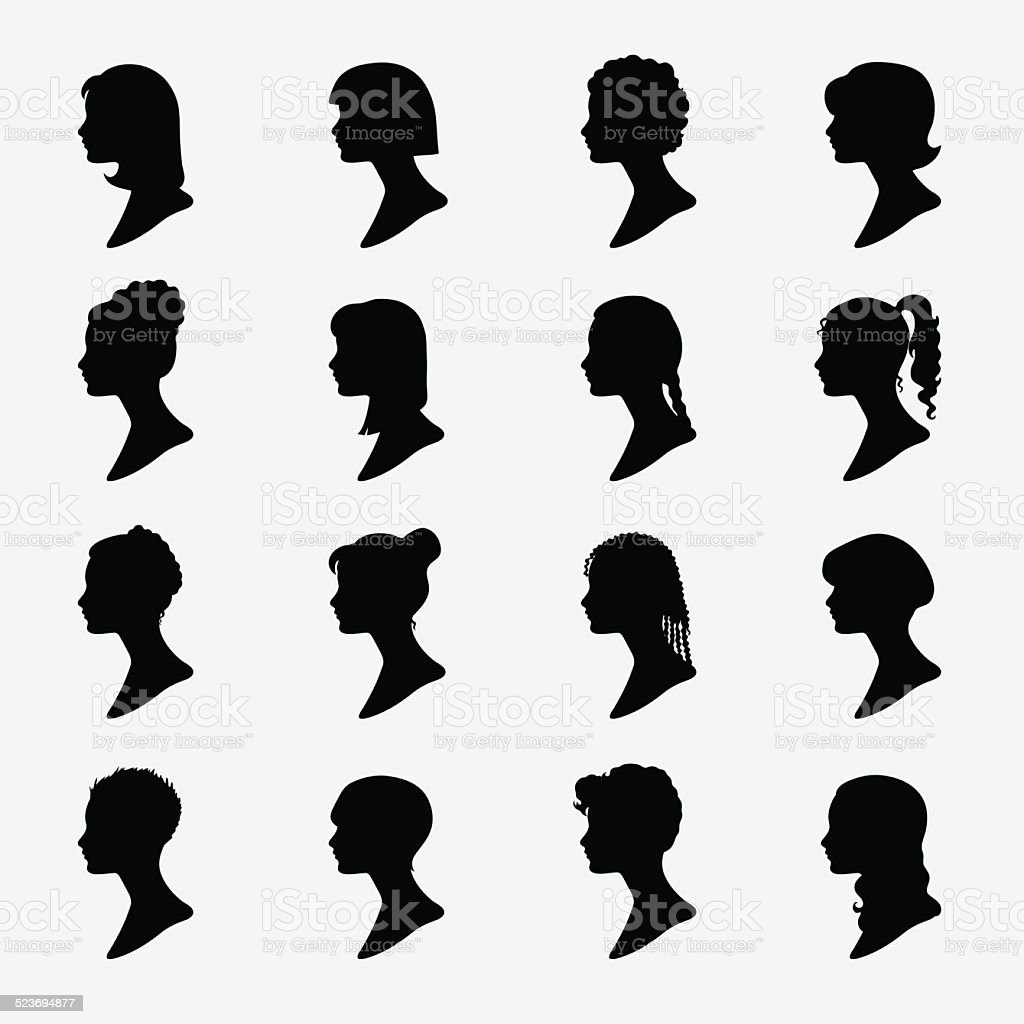 Silhouette vector art illustration
