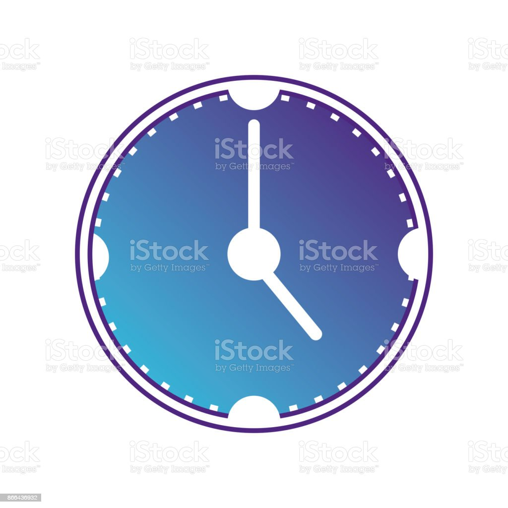 silhouette wall clock object design vector art illustration